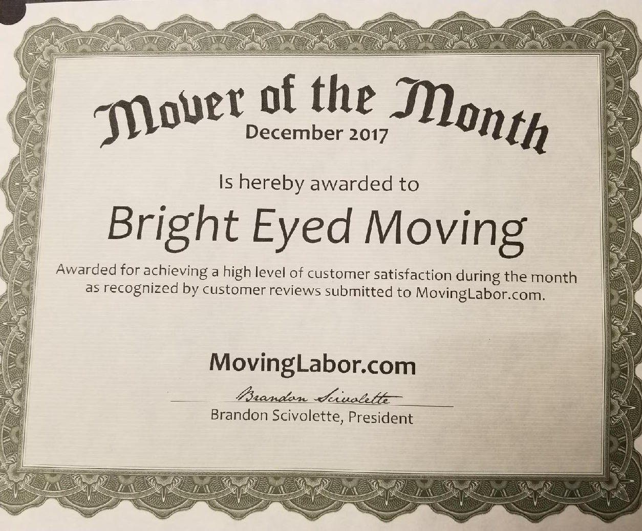 Moving Labor Services